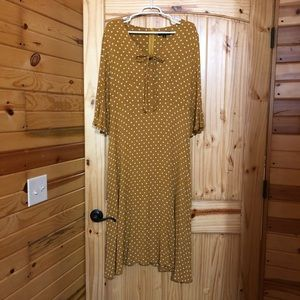 Suzanne Betro maxi dress with bell sleeves